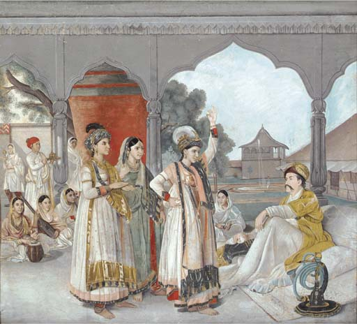 A leaf from Col. Polier's album, c.1780; After ZOFFANY Johan (John),Colonel Antoine-Louis Polier enjoying a nautch at his house in Lucknow,Christie's,London